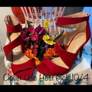 Christian Soriano gorgeous Faux Suede Heels